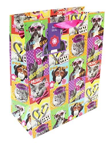 Große Lustige Tier Geschenk Tasche für Kinder Erwachsene Geburtstag Moderne Teen