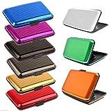 rev-pro Aluminium Credit Card Wallet Holder RFID Blocking 8 Colours (Orange)