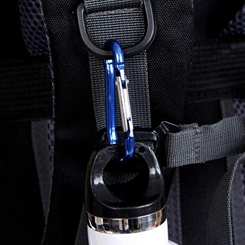 HWJF wasserdichte nylon - sports travel bergsteigen freizeit - rucksack für männer und frauen 55l Blue