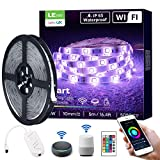 LE LED Strip 5M, Alexa RGB LED Streifen, IP65 Wasserdicht Smart LED Leiste, [nur 2.4GHz] WiFi Hell 5050 LED Band Lichterkette für Haus, Küche, Party, TV, Lichtband Kompatibel mit Alexa, Google Home