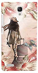PrintVisa Travel Girl Colorful Case Cover for Xiaomi Redmi Note/Note 4G