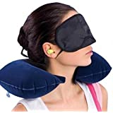 Skyfish Tourister Travel Pillow for tourist person with Eye Mask and Ear Bud