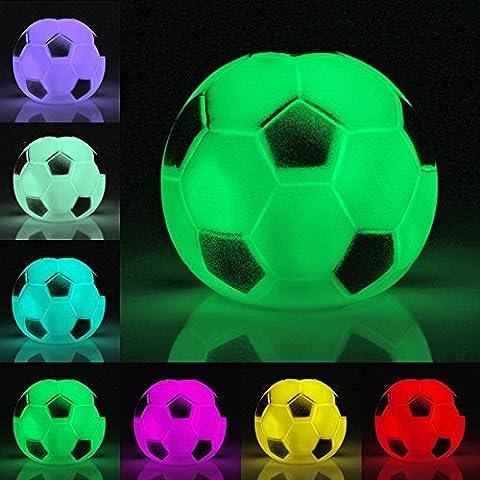 TAN Veilleuse Lampe Nuit LED 7 Couleurs Decoration en forme defootball