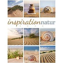 Inspiration Natur 2020, Wandkalender im Hochformat (50x66 cm) - Inspirations- / Naturkalender mit Bildmosaik im Triplet-Stil mit Monatskalendarium