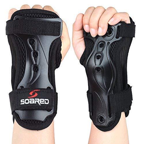 Soared Skateboard Handgelenkschutz Schutzausrüstung Skaten Handgelenkschoner Skifahren Rollschuhe Protektoren Kinder Herren Damen -