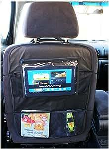 Organisateur de Siege de Voiture Siege de Voiture Tablette Ipad Protecteur Avec Poches Organiseurs pour voiture (Modele nr 2) [007]