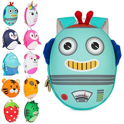 Boppi Tiny Trekker Zaino da viaggio per bambini - Zaino 4 litri - Robot