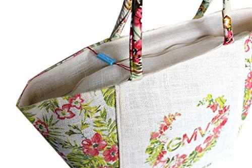 Borsa mare Gian Marco Venturi l.flowers donna moda mare 43441 bianco
