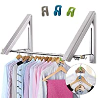 LIVEHITOP Clothes Rail Coat Hanger Racks Dryer Aluminum Hanging
