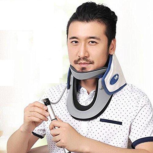 SHIQUNC Cervical de Traction Gonflable Soutien Cervical Traction de Cou Gonflable Cou Cervical Aide au Soutien du Collier vertébral