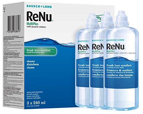 Bausch + lomb renu multiplus multi-purpose solution, 240 ml, confezione da 3