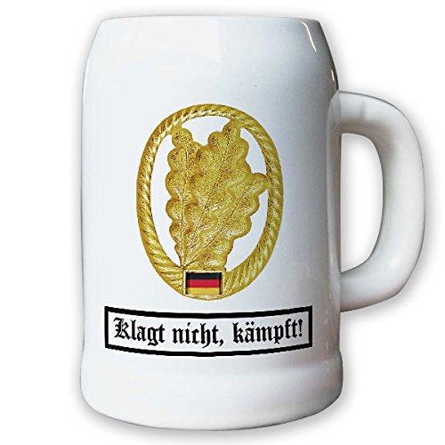 Krug / Bierkrug 0,5l - Barettabezeichen Jäger Truppe BW Bund Infantrie Dienstzeitende Andenken #10919