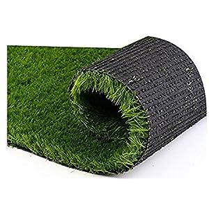 Global Home Luxury 40 MM Artificial Grass for Balcony, Garden, Floor, Doormat, Carpet for Home (1.5 feet X 2.5 feet)