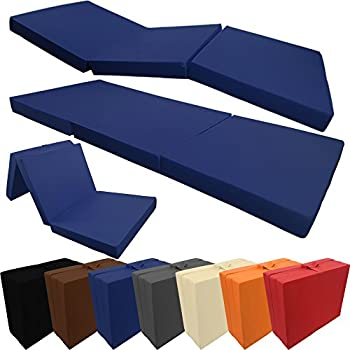 Folding Guest Mattress With Microfibre Cover Fold Up Mattress For Guests Or Sleepovers