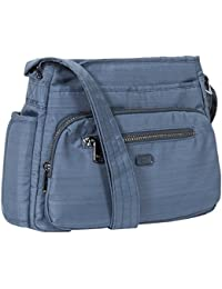 Lug Shimmy Cross-body Bag, Brushed Blue Cross Body Bag