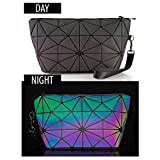 Pryzm Laser Makeup Bags WORLDS FIRST Light Reflective Material - GLOWS IN THE DARK - Travel Cosmetic Pouch Purse Glow Toiletry Organiser (LARGE)