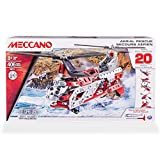 Meccano Helicopter 20 Model Set - juegos de construcción (Vehicle erector set, 8 año(s), 406 pieza(s), Negro, Rojo, Plata, Color blanco, Metal, De plástico, China)