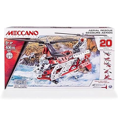Meccano - 6028598 - Jeu de Construction - Hélicoptère de Secours 20 Modèles