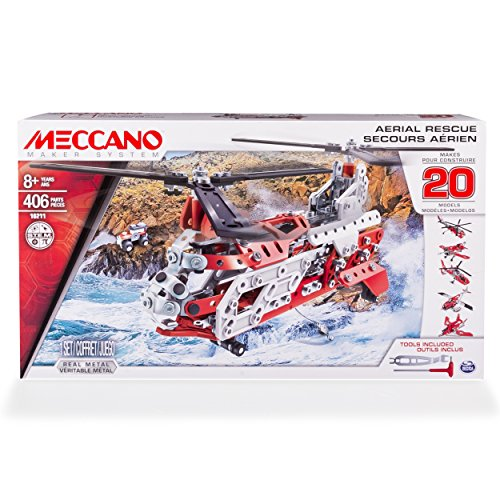 Meccano 6028598 - 20 Modell Set, Helicopter
