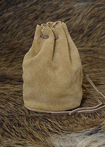 Preisvergleich Produktbild Lederbeutel, groß, braun - Geldbeutel - Wikinger - Mittelalter - LARP