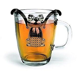 acustyle (TM) Süße Aufhängen Frosch Tees Diffusor-Ei Stahl Sieb Herbal Spice Filter Ping