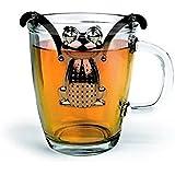 acustyle (TM) mignon à suspendre Grenouille Diffuseur Thé Infuseur à thé Passoire en acier à épices herbes Filtre Ping