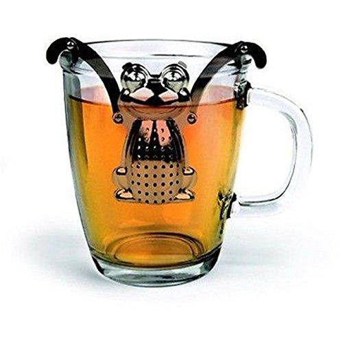 acustyle (TM) para colgar rana difusor de hojas de té infusor colador de hierbas especias filtro de acero ping