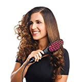 HARI OM CREATION Women's Electric Comb Brush Nano 3 in 1 Straightening LCD