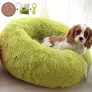 Ailotrd Extra Soft Plush Donut Dog Bed