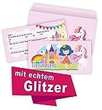 Rosanna Party Design einladung Kindergeburtstag mädchen Prinzessin Einladungskarten Kindergeburtstag (6 Karten + 6 Umschläge)