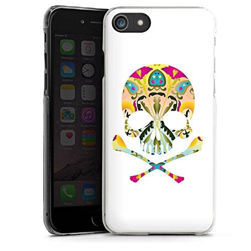 Apple iPhone X Silikon Hülle Case Schutzhülle Decorative Skull Totenkopf Schädel Hard Case transparent