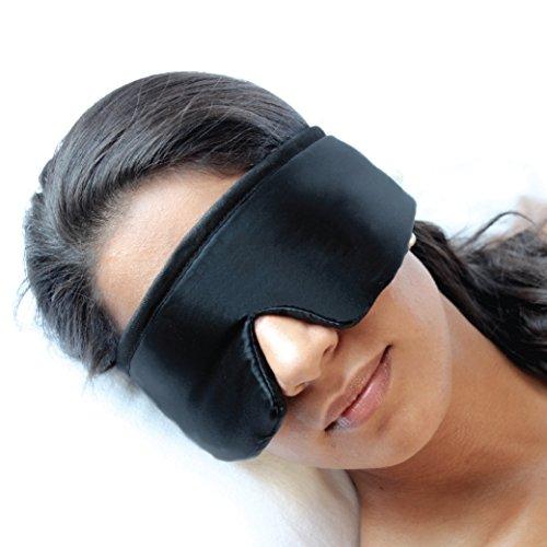 Preisvergleich Produktbild FEDANO Schlafmaske DreamKeeper - Hochwertig in elegantem Schwarz mit ökotex-zertifizierter Bio-Baumwolle - Durch innovatives Design geeignet für Männer und Frauen (Schwarz)