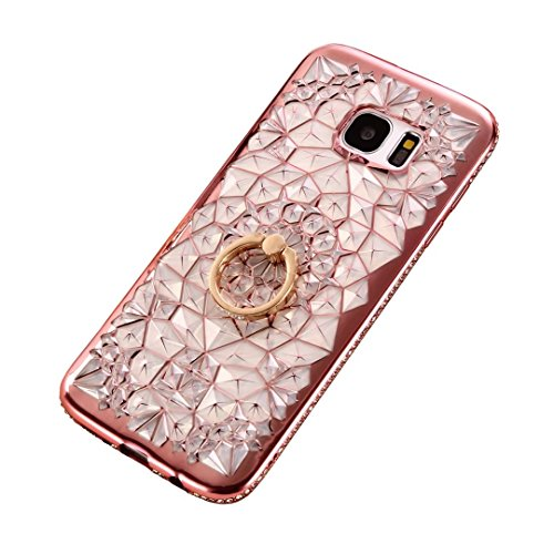Coque iPhone 6/6S silicone Souple Housse transparent ultra fin TPU motif Peinture Coque DECHYI pour iPhone 6/6S.carrousel. B-rose d'or