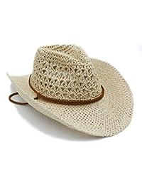 Eastery Sombrero Sombrero De Paja Verano Señoras Toquilla De Paja Sombrero  Estilo Simple De Vaquero Caballero 8203e39b6a9