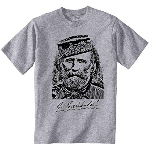 Teesquare1st Men's GIUSEPPE GARIBALDI Grey Tshirt XLarge Size