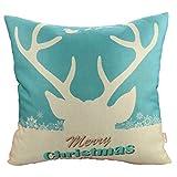 Luxbon Elk Deer Moose Weihnachten Haus Dekoration Geschenk Leinen Kissen Kissenbezug Lendenkissen Bettkissen Pillowcase Dekokissen 45 x 45 cm