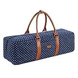 BAOSHA YG-01 Yoga Mat Bag Segeltuch Yogatasche Durchgehende Reißverschluss Tragetasche für Yoga, Pilates, Fitness und Gymnastikmatten mit Multifunktions Aufbewahrungstaschen (Blaue Tupfen)