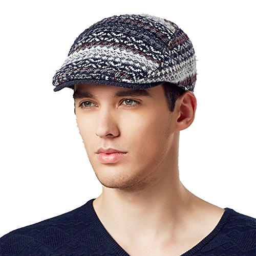 Kenmont automne hiver hommes Casual Male laine visière chauffeur de taxi gavroche chapeau Ivy cap