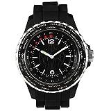 Orologio LED World Time,24fusi orari, inAlluminio spazzolato