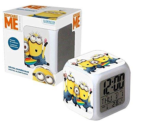 Minions Despertador Digital con cambio de color