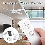 steellwingsf Universal Deckenventilator Lampe Fernbedienung Kit Timing Wireless Empfänger Home Werkzeug Einheitsgröße weiß