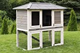 Miweba Hasenstall My Animal MH-28 Doppelstockhaus Hamsterkäfig Kaninchenkäfig Hasenkäfig Kaninchenstall 2 Ebenen