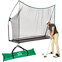 Filet d'entrainement Golf XXL Filet Golf Driving Polyester tetoron Haute résistance 306L x 90l x 213H cm Noir Vert 01