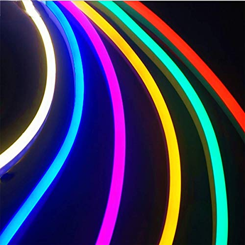 Luz de tira de LED 20M Luz de tira flexible de LED AC 220V Neón LED Flex  Tube Impermeable cadena de cuerda, Multi Color Select para el hogar