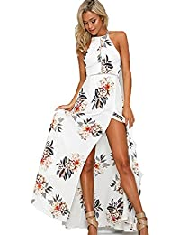 1cbfa5c83ca MQ Boutique® UK Womens Holiday Sleeveless Ladies Maxi Long Summer Floral  Print Beach Dress Size