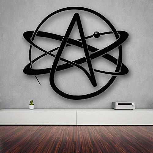 jiushizq Hochwertige Wandaufkleber Vinyl Aufkleber Atom Atheismus Religion Wissenschaft Great Decor Weiß 55X55 cm