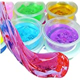 Magicwand Bubble Making DIY Crystal Clay Slime for Kids 100 % Safe & Non-Toxic (Pack of 6)