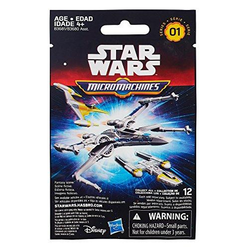 Hasbro - B3681 - Micro Machines - Star Wars - 1 Bustina Sorpresa Con 1 Mini Veicolo - Modello Casuale