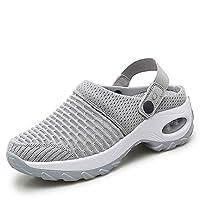 TBBY أحذية مفتوحة للنساء ، عارضة وسادة الهواء منصة شبكة النعال الأحذية الرياضية للمرأة خفيفة الوزن أحذية الشاطئ في الهواء الطلق المشي, (رمادي), 40 EU Wide