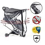 Universal Baby Buggy Sonnenschutz, Baldachin mit Moskitonetz, Kinderwagen-Regenschutz (optional), schwarz